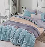 Комплект постельного белья двухсторонний  Цветы на красном Ткань Полисатин, фото 10