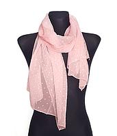 Шифоновый шарф Лейла однотонный 160*50 см персиковый