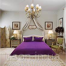 Покривало на ліжко з наволочками Arya 250X260 Diamond фіолетовий