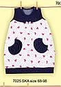 Літнє дитяче плаття для новонароджених Весняна радість р. 68-98 см (Nicol, Польща), фото 6