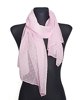 Шифоновый шарф Лейла однотонный 160*50 см розовый