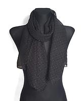 Шифоновый шарф Лейла однотонный 160*50 см черный