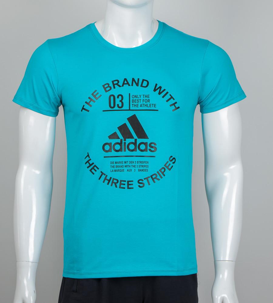 Футболка чоловіча Adidas (2056м), Бірюзовий