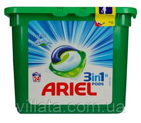 Капсулы универсальные Ariel 3в1 Alpine 24шт.