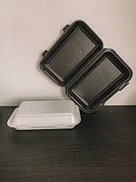 Ланч-бокс прямоугольный большой белый 150*246*60 250/уп, фото 1