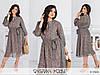 Шифонова жіноче плаття міді кольору хакі (5 кольорів) МЕ/-31339