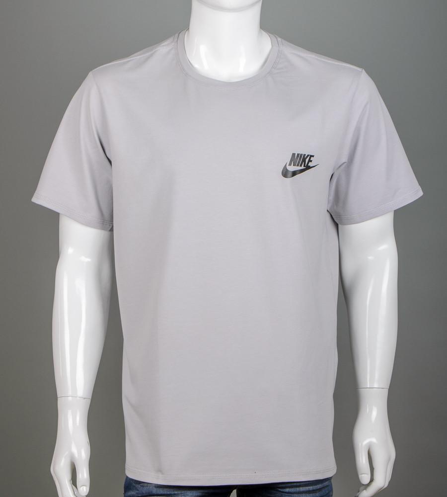 Футболка чоловіча батал Nike (2109б), Св.Сірий