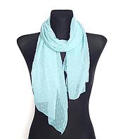 Шифоновый шарф Лейла однотонный 160*50 см небесный голубой