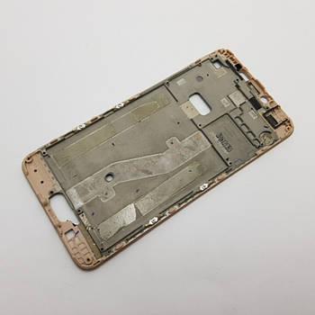 Рамка дисплея Meizu M3 Note L681H золото Сервисный оригинал с разборки