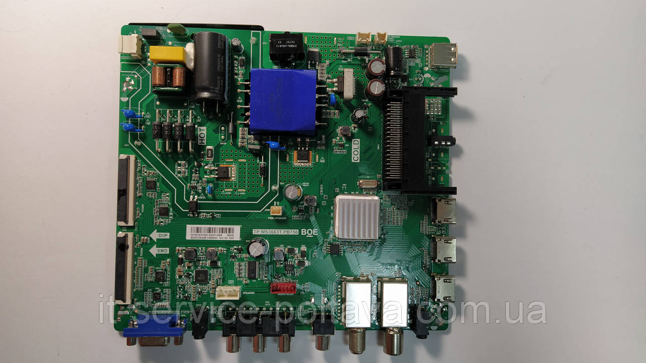Материнська плата (Main Board) TP.MS3663T.PB756 для телевізора Ergo 43DF3000
