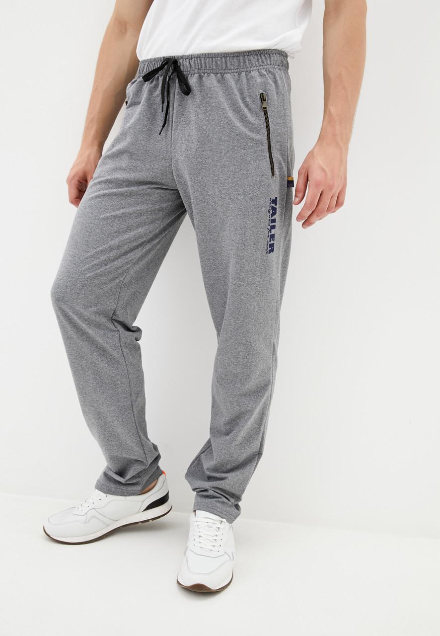 Чоловічі спортивні штани з турецького трикотажу на металевій блискавці Демісезонні