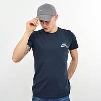 Чоловіча футболка з светоотражайкой Nike (репліка) синій
