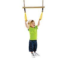 Трапеція з трикутними кільцями KBT для дитячого майданчика Жовтий