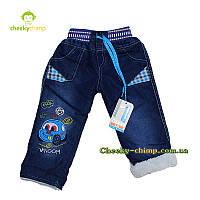 Крутые голубые джинсы на мальчика
