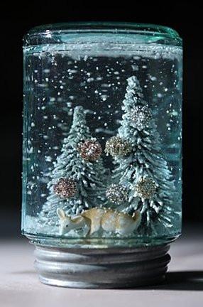 Новогодний сувенир снег в банке