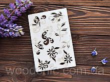 Чипборд набор Завитки с цветочками