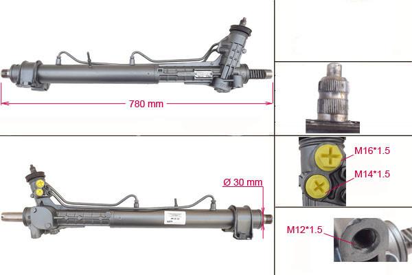 Рулевая рейка с ГУР Citroen Jumper, Fiat Ducato, Peugeot Boxer CI214R