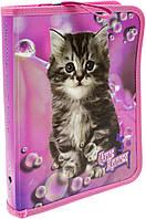 """Папка """"Class"""" №5627C Cute Kitten B5 PP на блиск. об'ємн.(12)"""
