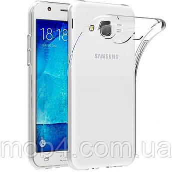 Силиконовый прозрачный чехол для Samsung Galaxy (Самсунг Гелекси) J7