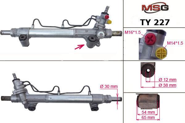Рулевая рейка с ГУР Toyota Hilux, Fortuner TY227