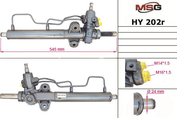 Рульова рейка з ГУР Hyundai Accent HY202R