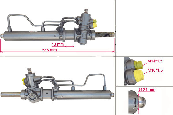 Рулевая рейка с ГУР Hyundai Accent HY201R