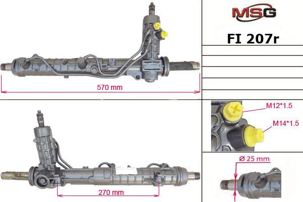 Рульова рейка з ГУР Fiat Multipla FI207R