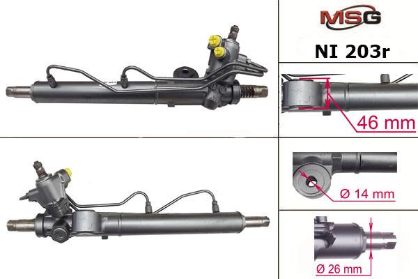 Рульова рейка з ГУР Nissan Almera NI203R