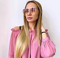 Жіночі сонцезахисні окуляри в золотій оправі, фото 1