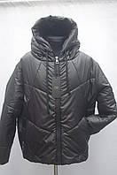 Демисезонная куртка на девушек рукав реглан Зефирка черная, фото 1