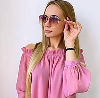 Женские солнцезащитные очки в золотой оправе, фото 1