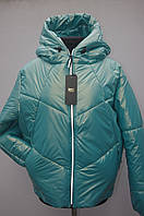 Демісезонна куртка на дівчат рукав реглан Зефирка бірюза, фото 1