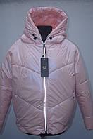 Демісезонна куртка на дівчат рукав реглан Зефирка рожевий, фото 1
