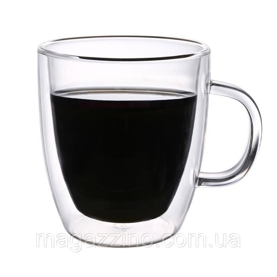 """Стеклянные чашки с двойными стенками, """"ConBrio"""", 2шт., 350мл."""