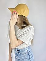 Жіноча кепка з бавовни жовта річна BBKx10