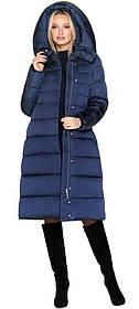 Брендовий синя куртка жіноча тепла модель 31515 (ЗАЛИШИВСЯ ТІЛЬКИ 40(XXS))