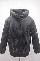 Стильна демісезонна куртка на дівчинку чорна, фото 1