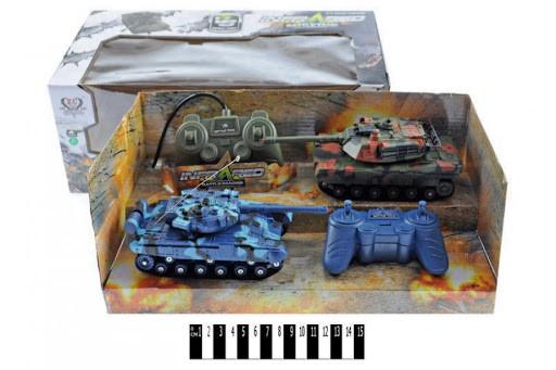 Танковий бій на радіокеруванні, акум., в коробці 333-TK11 р.39*19*15см.(Мас)