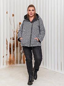 Стильные демисезонные куртки женские Больших размеров