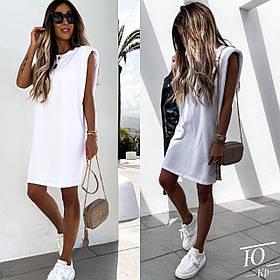 Модное летнее платье, Стильное летнее платье-футболка