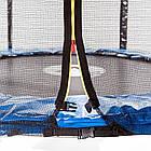Батут спортивний 490 см Atleto з захисною сіткою і драбиною до 180 кг вуличний домашній, фото 3