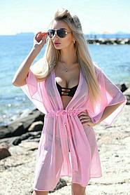 Туника пляжная короткая Розовая