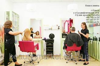 """Парикмахерское кресло Flamingo, Парикмахерская тележка M-3015B, Парикмахерское рабочее место """"Стиль"""""""