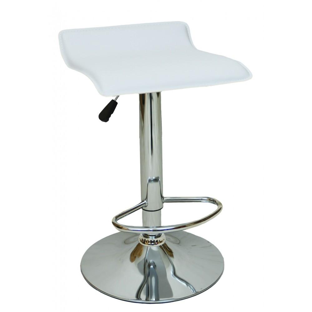 """Барний стілець HOKER BONRO з Підставкою для ніг(120 кг навантаження)""""Білий"""