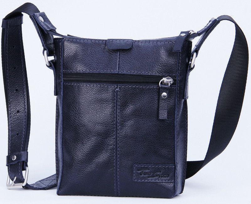 0748b6f010eb Мужская кожаная сумка через плечо Tom Stone 502BL синий — только ...