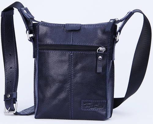 Мужская кожаная сумка через плечо Tom Stone 502BL синий