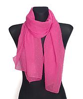 Шифоновый шарф Лейла однотонный 160*50 см малиновый