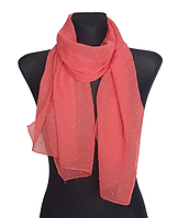 Шифоновый шарф Лейла однотонный 160*50 см красный