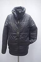 Весенняя куртка на девушку черная воротник стойка 40р, 42р, 44р, фото 1