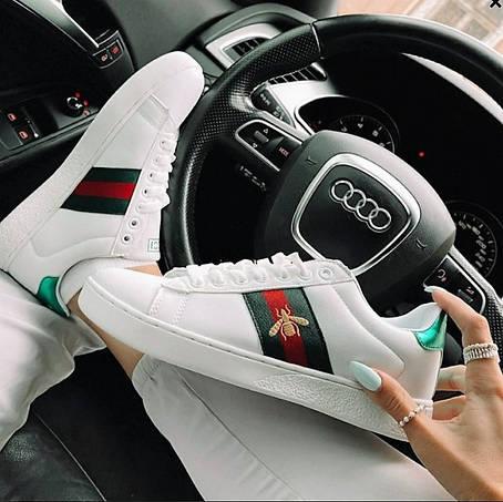 Кроссовки женские стильные белые 36 размер, фото 2